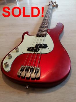 1x E-Gitarren Bass Sandberg P J Chrom Linkshänder Tuner Right Side